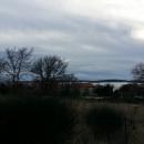 Medulin Pošesi, apartmani u izgradnji sa pogledom na more.