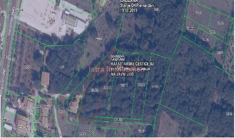 Pula, Veli Vrh- parcela 1600 m2- predurbanizacija